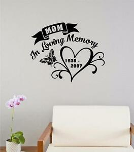 In Loving Memory Quotes | In Loving Memory Memorial Vinyl Decal Wall Decor Sticker Lettering