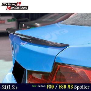 For Bmw 320i F30 F80 M3 Sedan Carbon Fiber P Style Rear Wing Trunk