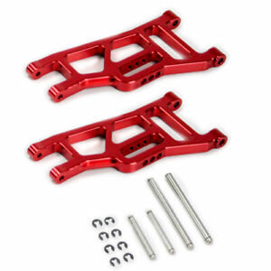 Traxxas-Monster-Jam-1-10-Alloy-Front-Lower-Arm-Red-by-Atomik-RC-Replaces-3631