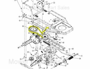 mtd variable speed pulley to the gearbox belt fits rh 115 ... mtd belt replacement diagram #5