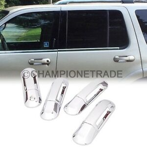 Chrome Side Door Handle Cover For 2002 2010 Ford Explorer Mercury Mountaineer Ct Ebay