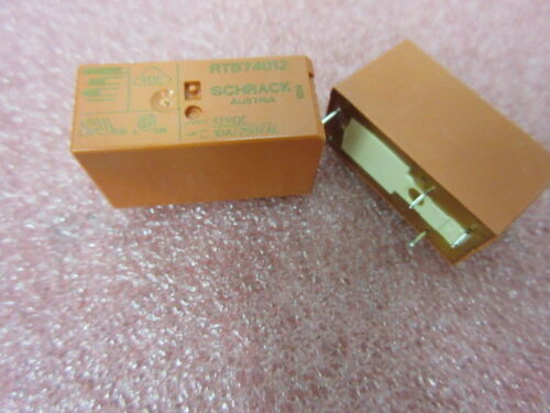 Relay 12v 10A 10Amp SPDT Miniature Low Profile Power Relay **2 Per Sale** UK