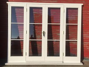 Accoya Wood French Doors with sidelights! Glazed! Made to measure ...