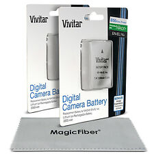 2x Vivitar EN-EL14a Battery for Nikon D5500 D5300 D5200 D5100 D3300 D3200 D3100
