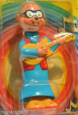 "Vintage 1983 Alvin & Chipmunks SIMON Guitar 5"" Toy WIND-UP FIGURE Mint on Card"