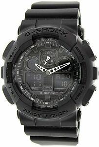 Casio-Men-039-s-G-Shock-GA100-1A1-Black-Resin-Quartz-Fashion-Watch