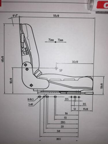 Sitz m.Sitzkontaktschalter für Walze,Minibagger,Elektrostapler,Lader Staplersitz