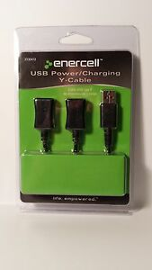 273 0412 New Radio Shack Enercell Usb Power Charging Y Cable