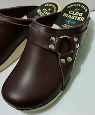 Clog Master by Sven Slip-on Mules Clogs Shoes Dark Purple Metal Design Size 41