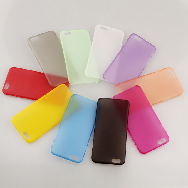 10Pcs/Lot 0.3mm Ultra thin Clear Back Cover Hard Case Skin For Apple iPhone 6 6S