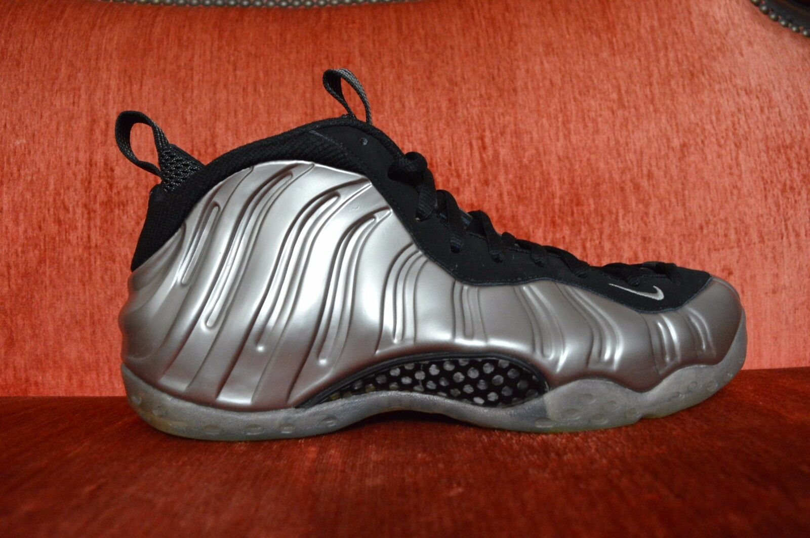 2010 NIKE AIR FOAMPOSITE ONE MENS OG METALLIC PEWTER BLACK 314996 004 Size 10