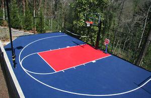 FlooringInc Outdoor Basketball Kit - Half Court Kit 20' x ...