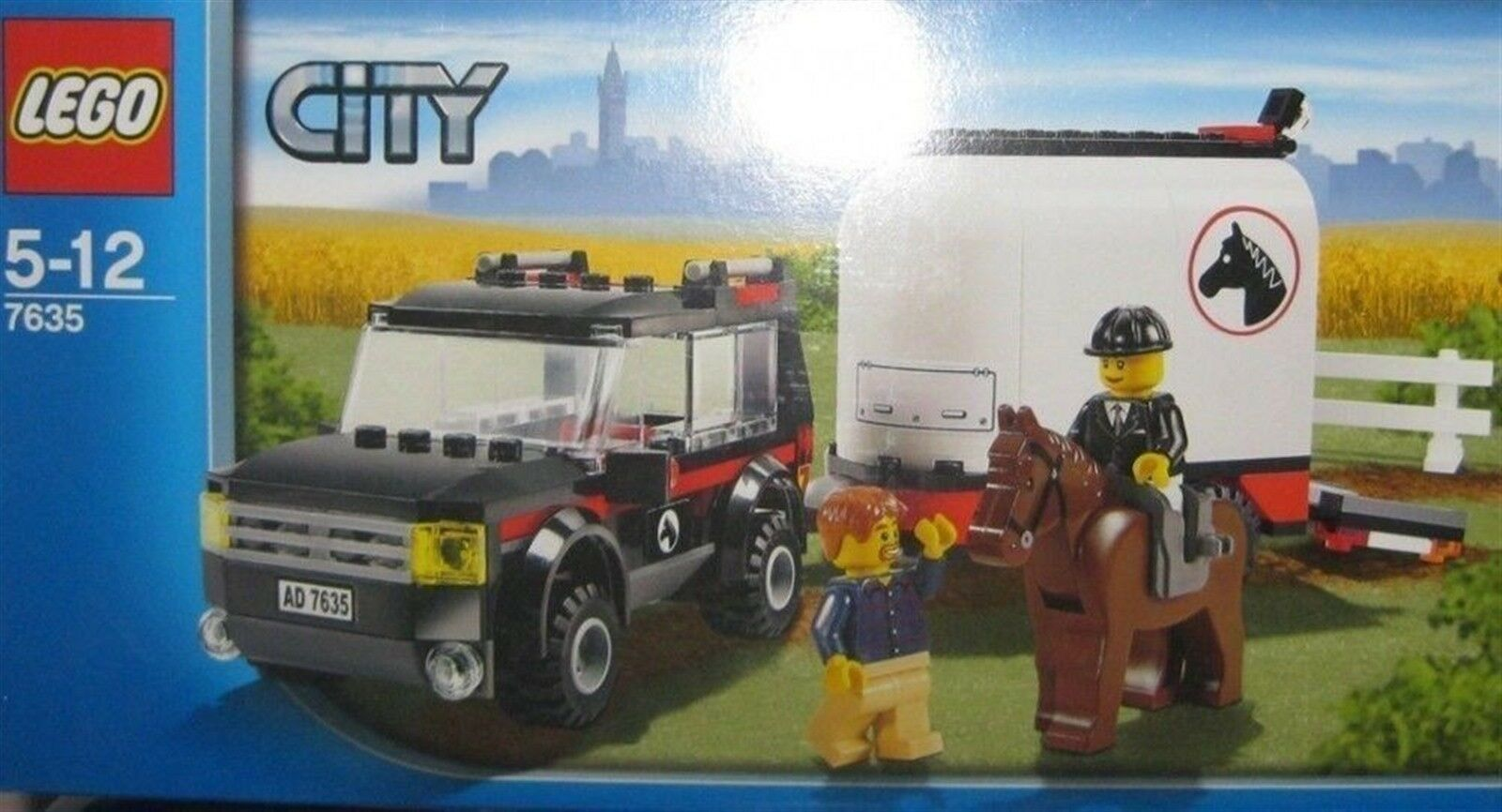 LEGO città  7635  4WD WITH HORSE TRAILER- DATED 2009 NRFB  bellissima