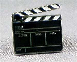 metal enamel pin badge brooch clapper board film television tv director take ebay. Black Bedroom Furniture Sets. Home Design Ideas