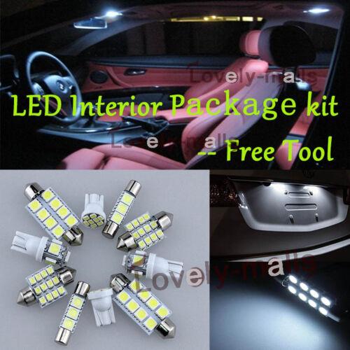 LED Interior Package Kit Bulb Xenon White 10pc Map For 2016 KIA Optima Xenon R7