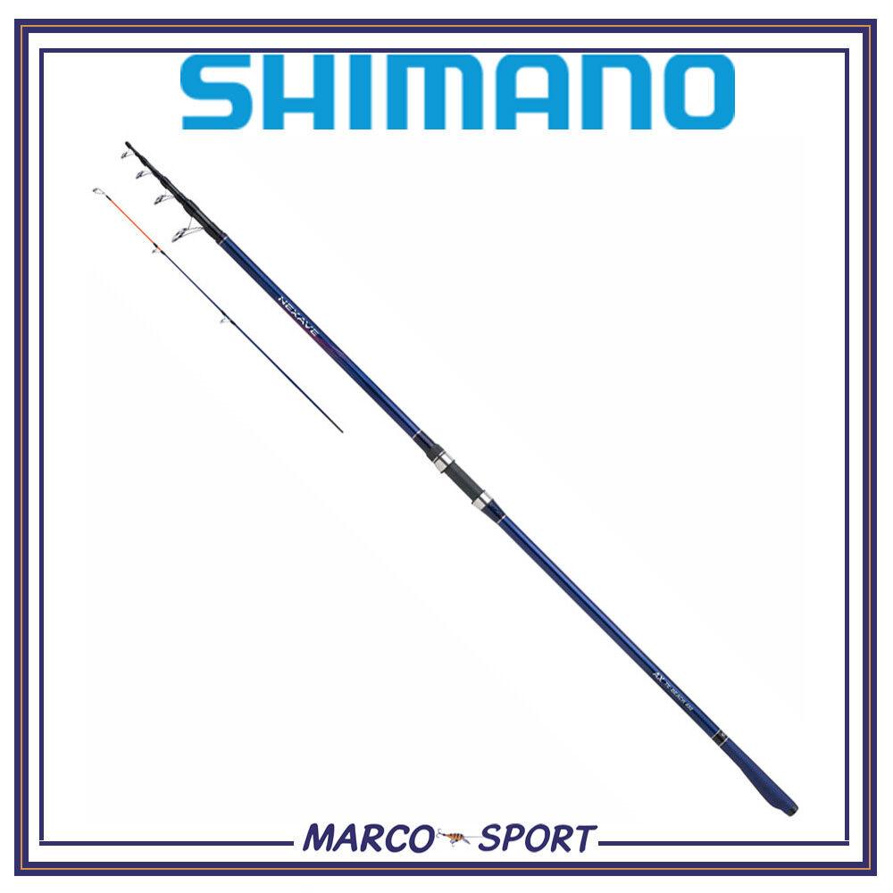 Canna da pesca surfcasting Shimano Nexave telescopica in carbonio 120g per mare