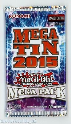2015 Mega-Tin Mega Pack 1st Edition New and Sealed Booster Pack x1 YuGiOh