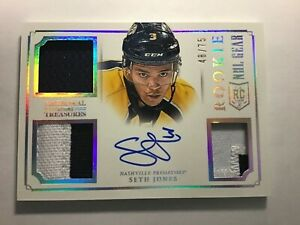 2013-14-Panini-National-Treasures-ROOKIE-PATCH-AUTO-SETH-JONES-75-RG-SJ