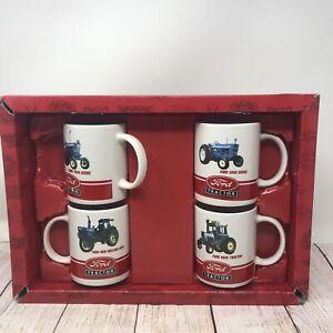 Farmer Mug Coffee Cup Set of 4 FORD TRACTORS 5000 & 7000 SERIES, 9600 & 8730