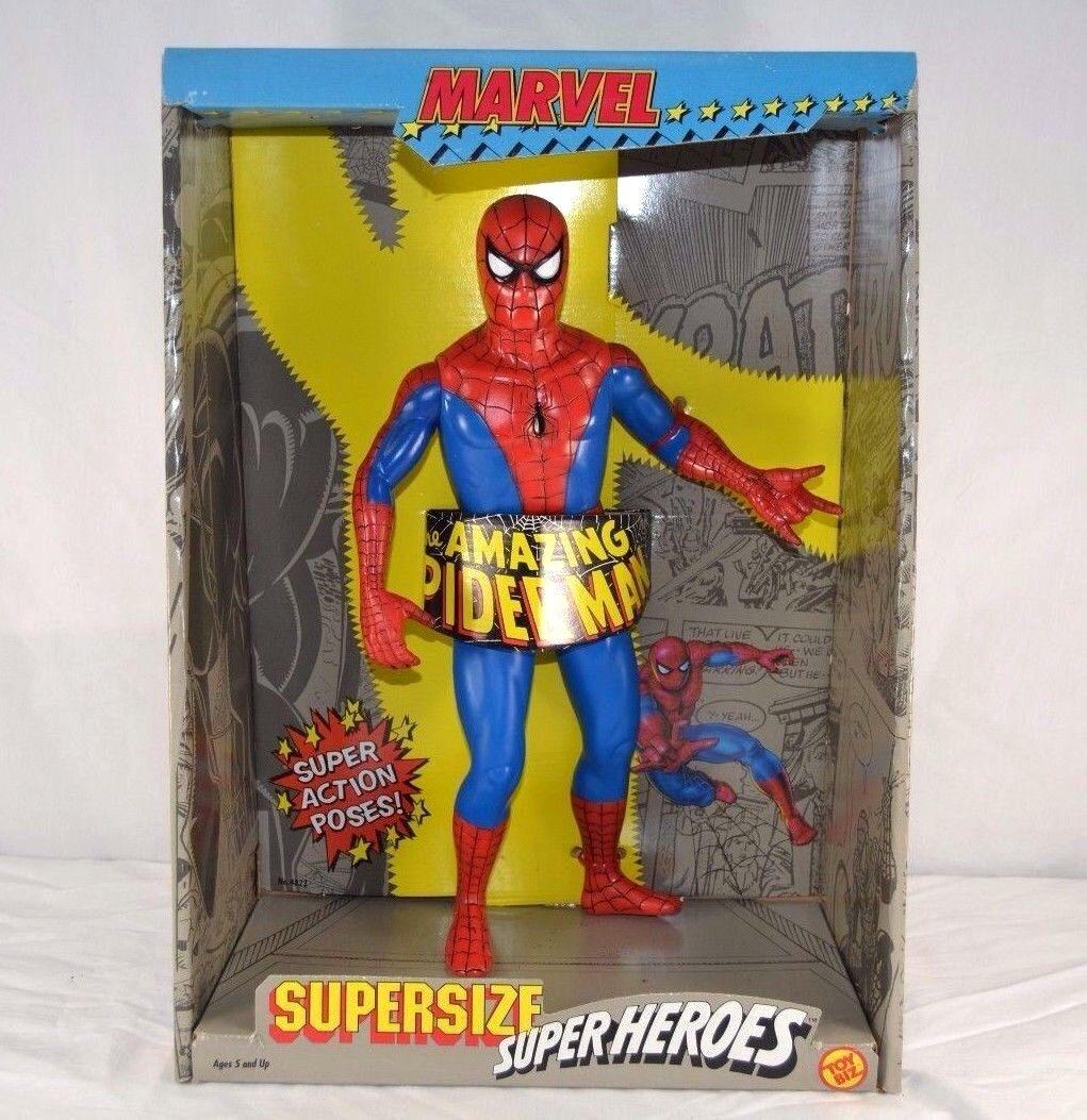 Spider-Man Supersize Super Heroes Toy Biz Marvel 1991 Never Opened