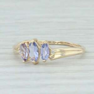 1-50Ct-Marquise-Cut-Tanzanite-amp-Diamond-Engagement-Ring-14k-Yellow-Gold-Finish