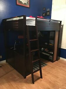 Image Is Loading Pottery Barn Teen Study And Sleep Loft Bed