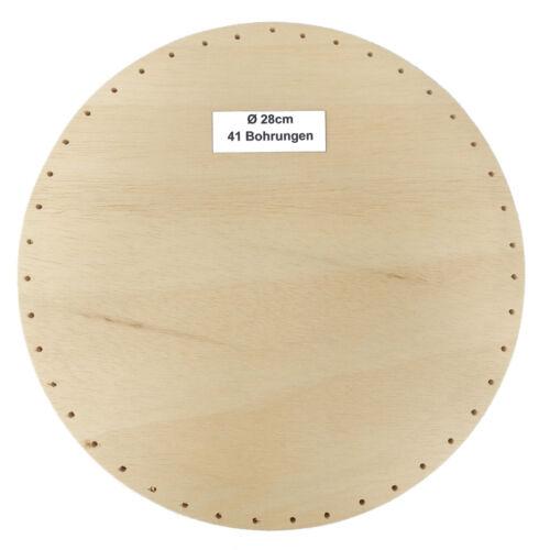 Korbflechtboden rund Peddigrohr Boden Flechtboden Sperrholz massiv Bohrung 3,2mm