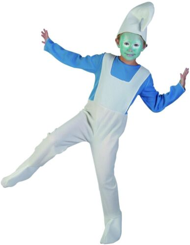 Children's Smurf Costume Pixie Elf Party Themed Event Fancy Dress World Book Day