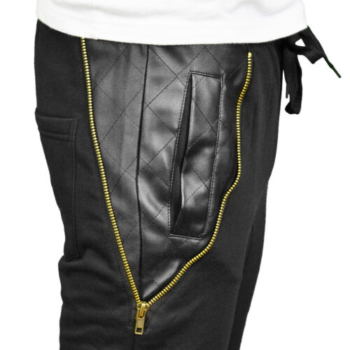 BNWT Soulstar Mens Designer Drop Crotch Tapered Fit /& Skinny Cuffed Joggers