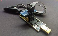 KIT Programmatore CH341A USB per BIOS e EEPROM 24c 25x w25 + Clip test SOP8