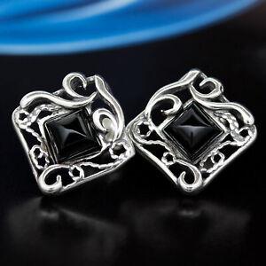 Onyx-Silber-925-Ohrringe-Damen-Schmuck-Sterlingsilber-S208