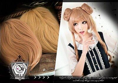 japan anime manga lolita cosplay sailor moon Usagi Tsukino curly wig w/ buns