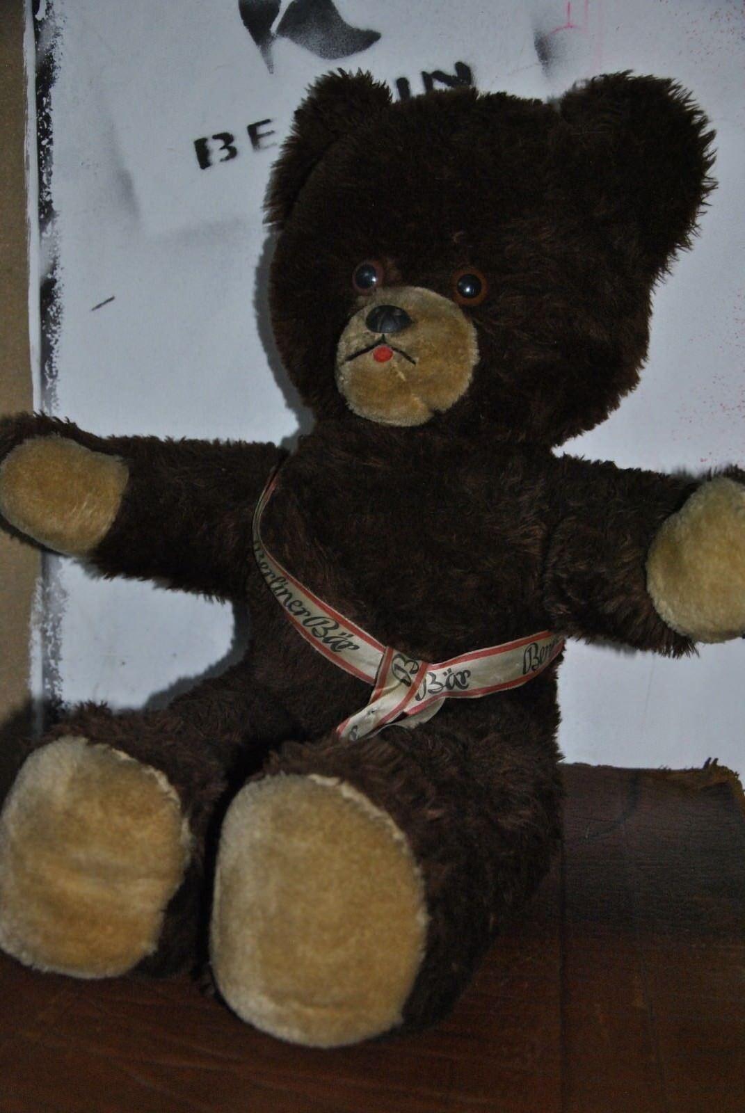 Berliner Berliner Berliner Bär Teddy mit Schärpe Souvenir BERLIN 60er TRUE VINTAGE 70er c3bb0f