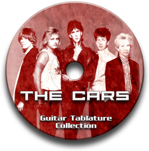 THE CARS POP ROCK GUITAR TAB TABLATURE SONG BOOK ANTHOLOGY SOFTWARE CD