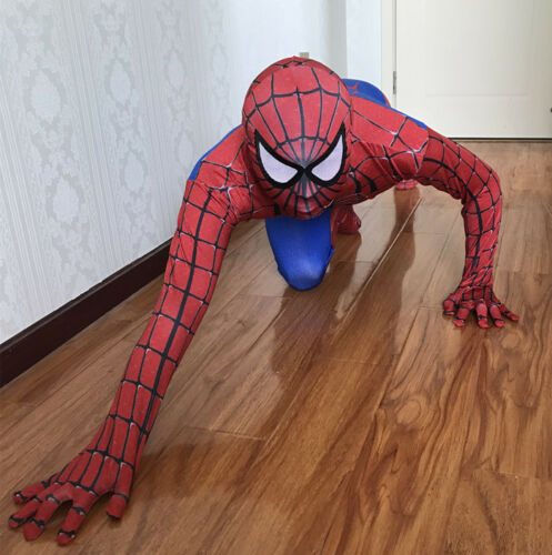 Superhero Spiderman Cosplay Costume Adult Kids Halloween Jumpsuit Zentai Suit