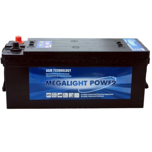 Versorgungs-Batterie AGM Megalight 12V 130Ah ersetzt  110Ah 120Ah 140Ah 150Ah