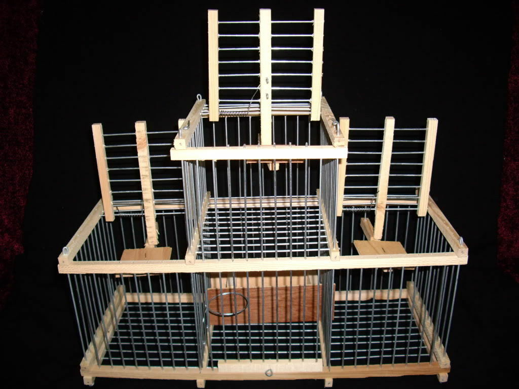 Trap Cage with 3 Trap for birds