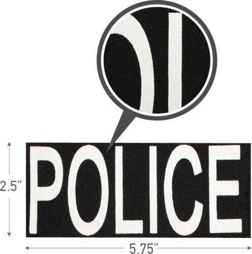 Police Patch Hook Back for Vests or Jackets
