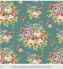 Tilda G.F. OCEAN GREEN Quilt fabric patchwork Sewing Cotton 0.5m, Craft supplies