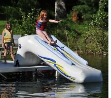 NEW Rave Sports 00002 Dock Mounted 9' Inflatable Water Slide w/ Warranty & Pump