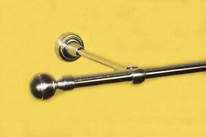Gardinenstange-Komplettangebot-16-mm-mit-Endkappen-Kugel-Metall-Edelstahllook