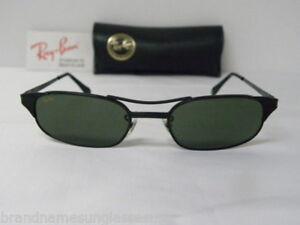 eeecf0964f New Vintage B L Ray Ban Signet Rectangle W1397 Black Sunglasses USA ...