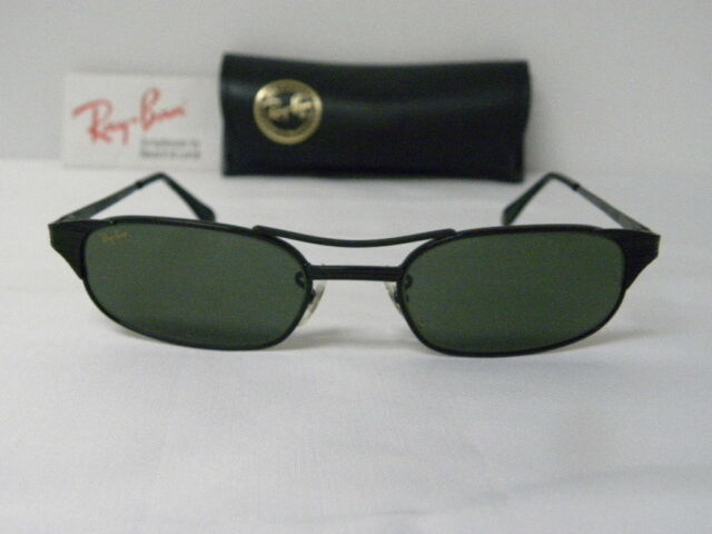 b7d8fe1c0e New Vintage B L Ray Ban Signet Rectangle W1397 Black Sunglasses USA USA