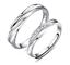 miniatura 1 - Coppia-Fedine-Fidanzamento-Argento-925-Fedi-Anelli-Regolabili-Fascia-Cristalli