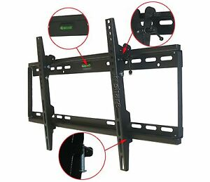 NEW-LCD-LED-PLASMA-FLAT-TILT-TV-WALL-MOUNT-30-32-37-42-46-50-52-55-60-64-BLACK