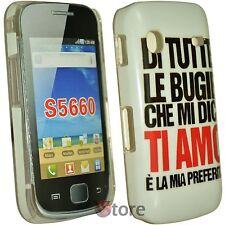 Cover Custodia Per Samsung Galaxy GIO S5660  Bugie Ti Amo + Pellicola Display