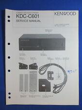 KENWOOD KDC-C601 CD CHANGER CAR AUDIO SERVICE MANUAL ORIGINAL FACTORY ISSUE