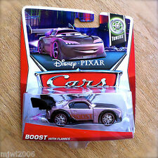 Disney PIXAR Cars BOOST WITH FLAMES on 2013 TUNERS THEME CARD diecast 9/10 N2O