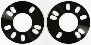 2 X 5MM ALLOY WHEELS SPACERS SHIMS FIT TOYOTA PRIUS