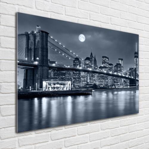 Glas-Bild Wandbilder Druck auf Glas 100x70 Sehenswürdigkeiten Manhattan New York